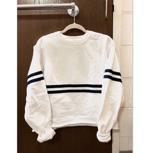 John Galt oversized sweatshirt with stripe
